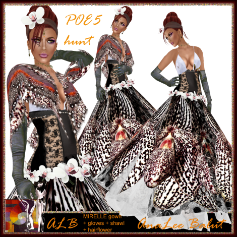 ALB MIRELLE gown + gloves + shawl POE5 hunt 2012 special outfit by AnaLee Balut - ALB DREAM FASHION