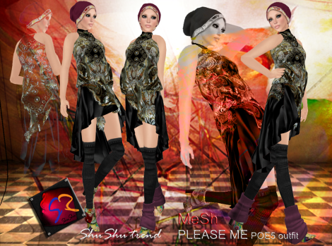 ShuShu trend PLEASE ME outfit POE5 hunt gift by ShuShu Congrejo