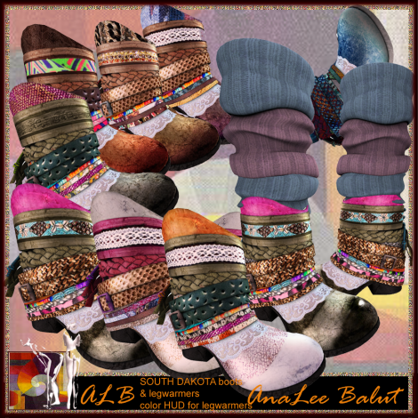 ALB SOUTH DAKOTA boots & legwarmer