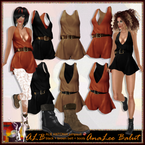 ALB ANTONIA jumpsuit 3 colors + boots 2 colors