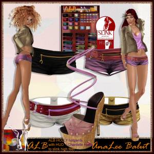 ALB HOLLY hotpants w HUD and Chantelle heels to slink high
