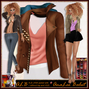 ALB JANA jacket w top and HUD by AnaLee Balut