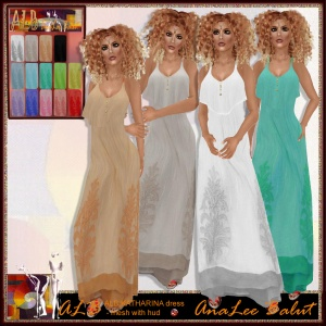 ALB KATHARINA beach dress - mesh w 14 color hud