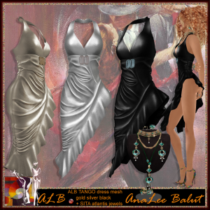 ALB TANGO dress MESH 3 colors + SITA atlantis jewels x