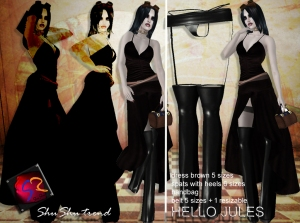 ShuShu HELLO JULES outfit incl spats dress bag belt