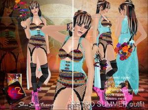 ShuShu RETRO SUMMER manga outfit