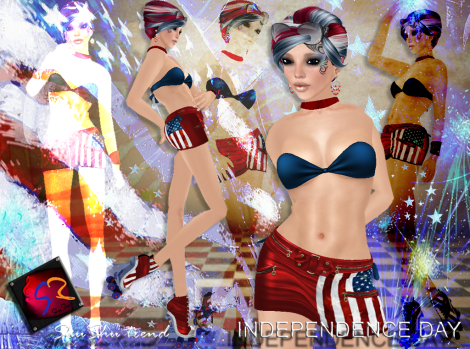 ShuShu trend INDEPENDENCE DAY outfit with blades