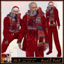 ALB YULE christmas outfit - onesie - scarf - hat