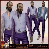 ALB VINTER suit lilac - 5 sizes classic mesh MALE
