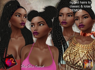 ShuShu HAIR afro braids reggae to rigged & lolas DEMOS