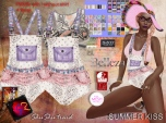 ShuShu SUMMER KISS outfit - w HUD - SLink Maitreya Belleza