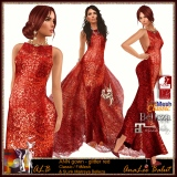 ALB ANN gown - glitter red