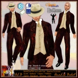 ALB MANDARIN suit with hat beanie & shoes