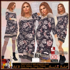 ALB XMAS tunic or early pregnant dress & boots 2018